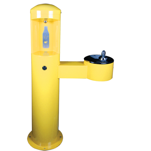 Stainless Steel Outdoor Bottle Filler With Child (Jr. ADA Compliant) Bowl Height (CWBF-2-CHD)