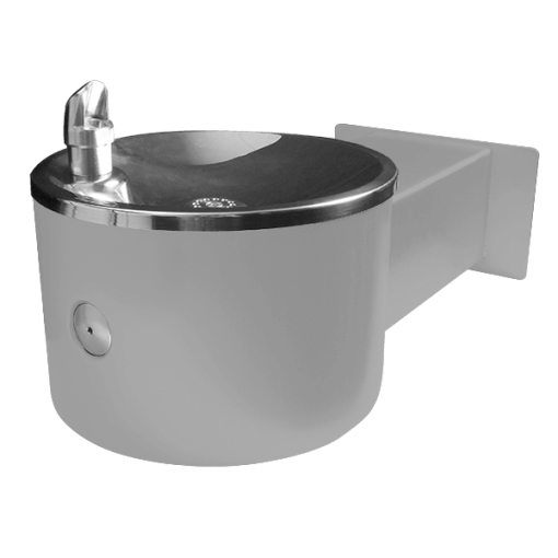 Stainless Steel, Outdoor Wall Mounted Drinking Fountain for Single Users