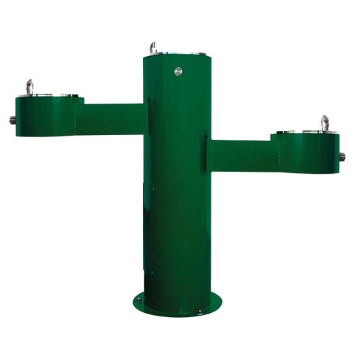 Three Station, Stainless Steel Outdoor Adult and Child ADA Compliant Drinking Fountain (WODF-3-HC-CHD)