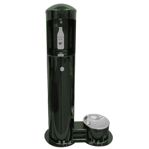 Stainless Steel Outdoor Bottle Filler With Pet Drinking Fountain (CWBF-2-PET)